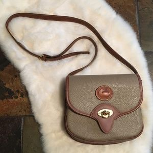 Dooney & Bourke Crossbody Bag Purse Brown and Tan